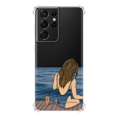 Coque Samsung Galaxy S21 Ultra 5G anti-choc souple angles renforcés transparente Au bord de l'eau La Coque Francaise