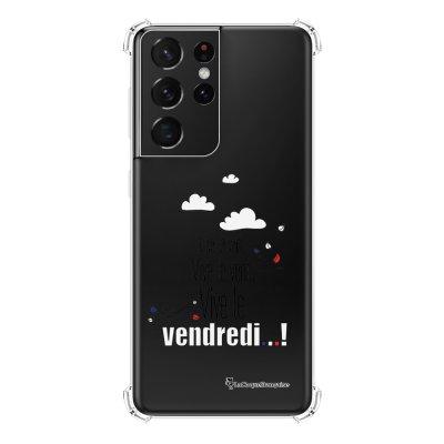 Coque Samsung Galaxy S21 Ultra 5G anti-choc souple angles renforcés transparente Vive le vendredi La Coque Francaise
