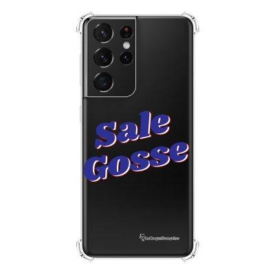 Coque Samsung Galaxy S21 Ultra 5G anti-choc souple angles renforcés transparente Sale gosse bleu La Coque Francaise