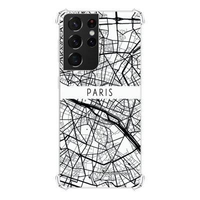 Coque Samsung Galaxy S21 Ultra 5G anti-choc souple angles renforcés transparente Carte de Paris La Coque Francaise