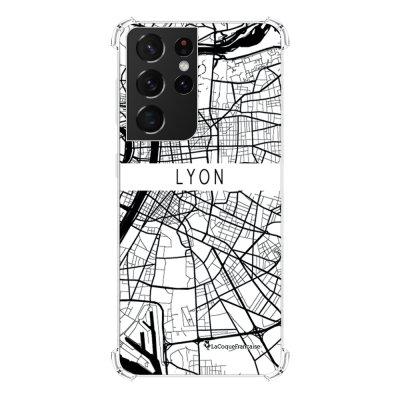 Coque Samsung Galaxy S21 Ultra 5G anti-choc souple angles renforcés transparente Carte de Lyon La Coque Francaise