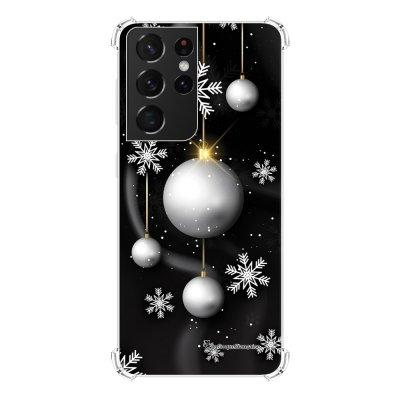 Coque Samsung Galaxy S21 Ultra 5G anti-choc souple angles renforcés transparente Boules Etoiles Noel neiges La Coque Francaise