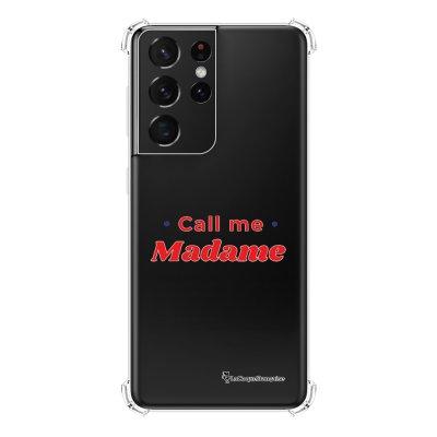 Coque Samsung Galaxy S21 Ultra 5G anti-choc souple angles renforcés transparente Call Me Madame La Coque Francaise