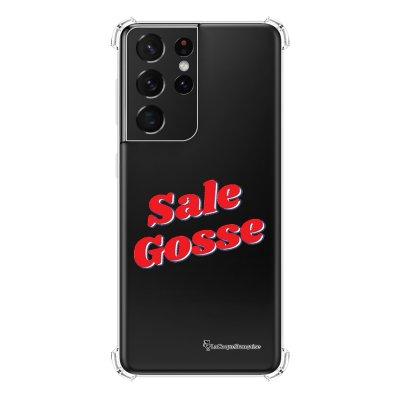 Coque Samsung Galaxy S21 Ultra 5G anti-choc souple angles renforcés transparente Sale Gosse Rouge La Coque Francaise