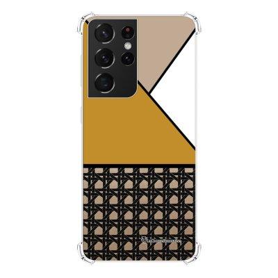 Coque Samsung Galaxy S21 Ultra 5G anti-choc souple angles renforcés transparente Canage moutarde La Coque Francaise