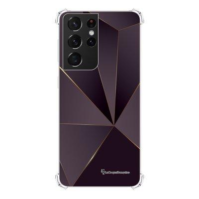 Coque Samsung Galaxy S21 Ultra 5G anti-choc souple angles renforcés transparente Violet géométrique La Coque Francaise