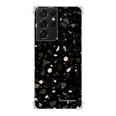 Coque Samsung Galaxy S21 Ultra 5G anti-choc souple angles renforcés transparente Terrazzo Noir La Coque Francaise