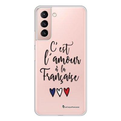 Coque Samsung Galaxy S21 Plus 5G 360 intégrale transparente C'est l'amour Tendance La Coque Francaise.