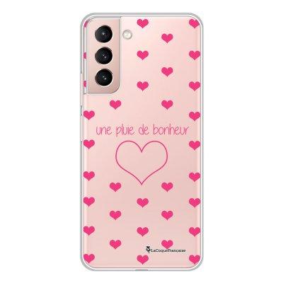 Coque Samsung Galaxy S21 Plus 5G 360 intégrale transparente Pluie de Bonheur Rose Tendance La Coque Francaise.