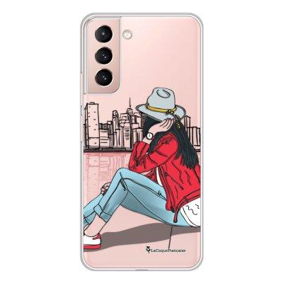 Coque Samsung Galaxy S21 Plus 5G 360 intégrale transparente Chapeau femme plumes Tendance La Coque Francaise.