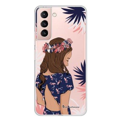 Coque Samsung Galaxy S21 Plus 5G 360 intégrale transparente Couronne de fleurs Tendance La Coque Francaise.