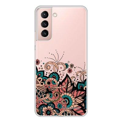 Coque Samsung Galaxy S21 Plus 5G 360 intégrale transparente Cachemire bleu corail Tendance La Coque Francaise.