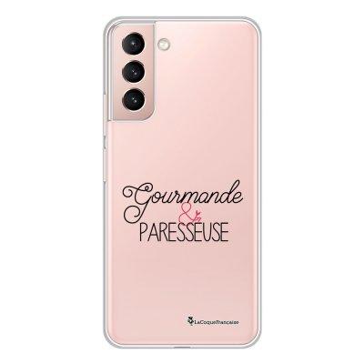 Coque Samsung Galaxy S21 Plus 5G 360 intégrale transparente Gourmande & paresseuse Tendance La Coque Francaise.