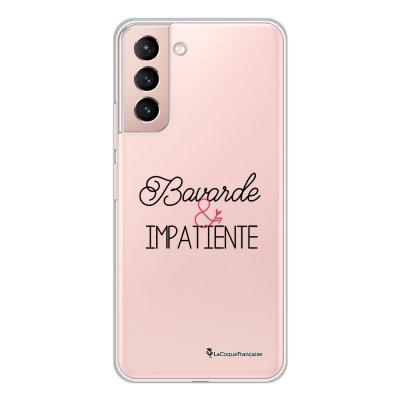 Coque Samsung Galaxy S21 Plus 5G 360 intégrale transparente Bavarde et impatiente Tendance La Coque Francaise.