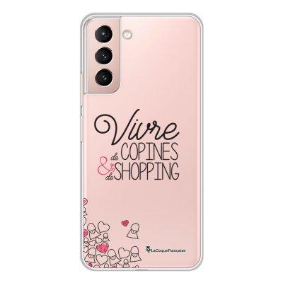 Coque Samsung Galaxy S21 Plus 5G 360 intégrale transparente Vivre de copines Tendance La Coque Francaise.