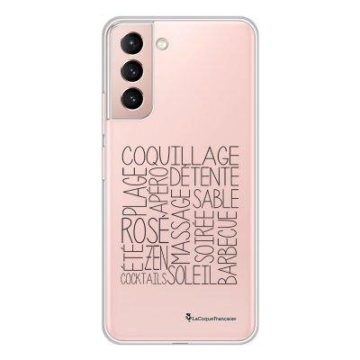 Coque Samsung Galaxy S21 Plus 5G 360 intégrale transparente Les mots de l'été Tendance La Coque Francaise.