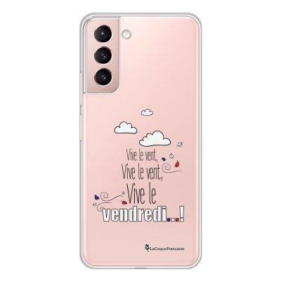 Coque Samsung Galaxy S21 Plus 5G 360 intégrale transparente Vive le vendredi Tendance La Coque Francaise.