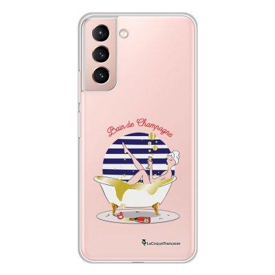Coque Samsung Galaxy S21 Plus 5G 360 intégrale transparente Bain de champagne Tendance La Coque Francaise.