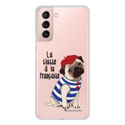 Coque Samsung Galaxy S21 Plus 5G 360 intégrale transparente Chien Marinière Tendance La Coque Francaise.