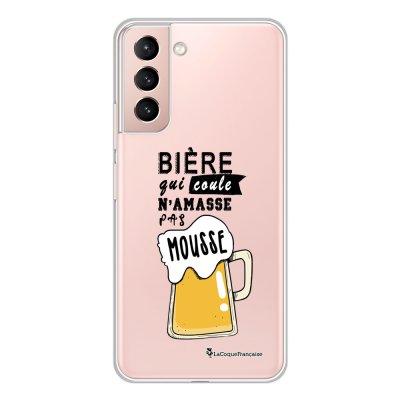 Coque Samsung Galaxy S21 Plus 5G 360 intégrale transparente Bière qui Coule Tendance La Coque Francaise.