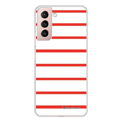 Coque Samsung Galaxy S21 Plus 5G 360 intégrale transparente Marinière Rouge Tendance La Coque Francaise.