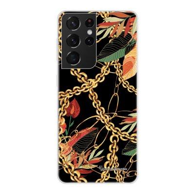 Coque Samsung Galaxy S21 Ultra 5G 360 intégrale transparente Fleurs et Chaines Tendance La Coque Francaise.