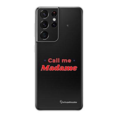 Coque Samsung Galaxy S21 Ultra 5G 360 intégrale transparente Call Me Madame Tendance La Coque Francaise.