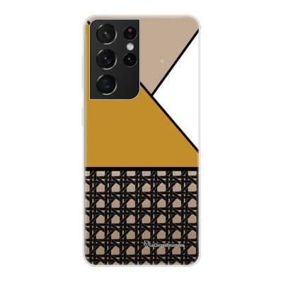 Coque Samsung Galaxy S21 Ultra 5G 360 intégrale transparente Canage moutarde Tendance La Coque Francaise.