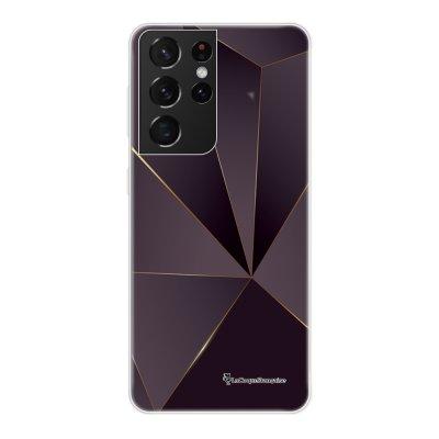 Coque Samsung Galaxy S21 Ultra 5G 360 intégrale transparente Violet géométrique Tendance La Coque Francaise.