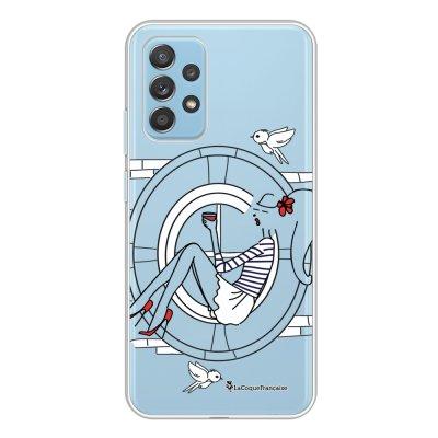 Coque Samsung Galaxy A52 souple transparente Sur les Toits de Paris Motif Ecriture Tendance La Coque Francaise.