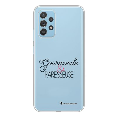 Coque Samsung Galaxy A52 souple transparente Gourmande & paresseuse Motif Ecriture Tendance La Coque Francaise.