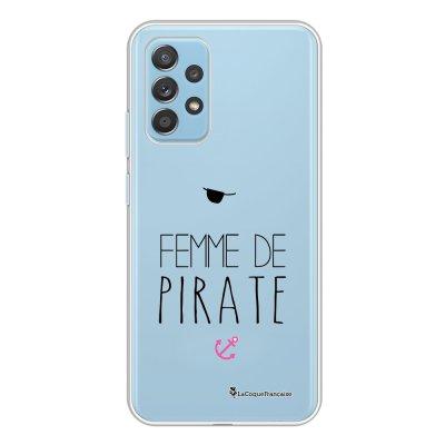 Coque Samsung Galaxy A52 souple transparente Femme de Pirate Motif Ecriture Tendance La Coque Francaise.