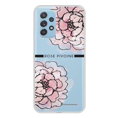 Coque Samsung Galaxy A52 souple transparente Rose Pivoine Motif Ecriture Tendance La Coque Francaise.