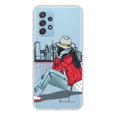 Coque Samsung Galaxy A52 souple transparente Chapeau femme plumes Motif Ecriture Tendance La Coque Francaise.