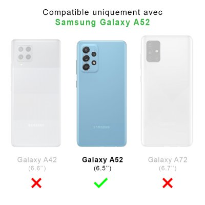 Coque Samsung Galaxy A52 souple transparente Triangles marbre Motif Ecriture Tendance La Coque Francaise.