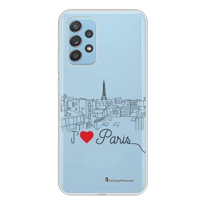 Coque Samsung Galaxy A52 souple transparente J'aime Paris Motif Ecriture Tendance La Coque Francaise.