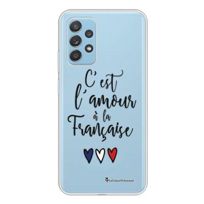 Coque Samsung Galaxy A52 souple transparente C'est l'amour Motif Ecriture Tendance La Coque Francaise.