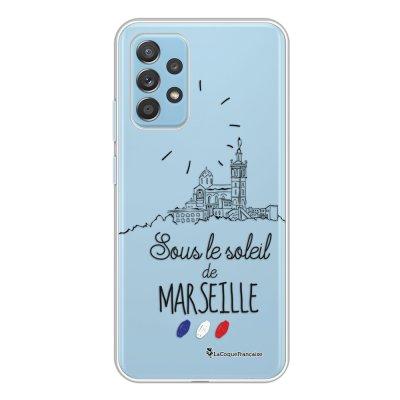 Coque Samsung Galaxy A52 souple transparente Sous le soleil de Marseille Motif Ecriture Tendance La Coque Francaise.
