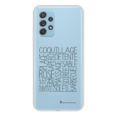 Coque Samsung Galaxy A52 souple transparente Les mots de l'été Motif Ecriture Tendance La Coque Francaise.