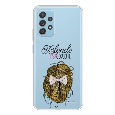 Coque Samsung Galaxy A52 souple transparente Blonde et coquette Motif Ecriture Tendance La Coque Francaise.