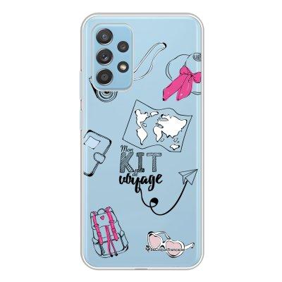 Coque Samsung Galaxy A52 souple transparente Mon kit de voyage Motif Ecriture Tendance La Coque Francaise.