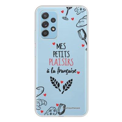 Coque Samsung Galaxy A52 souple transparente Mes petits plaisirs Motif Ecriture Tendance La Coque Francaise.