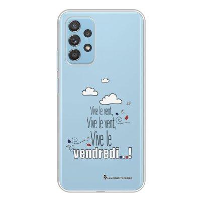 Coque Samsung Galaxy A52 souple transparente Vive le vendredi Motif Ecriture Tendance La Coque Francaise.