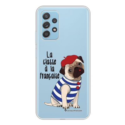 Coque Samsung Galaxy A52 souple transparente Chien Marinière Motif Ecriture Tendance La Coque Francaise.
