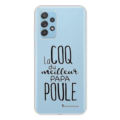 Coque Samsung Galaxy A52 souple transparente Meilleur papa poule Motif Ecriture Tendance La Coque Francaise.