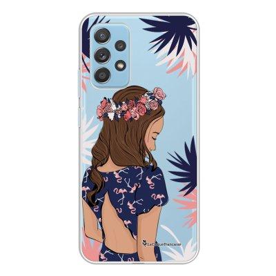 Coque Samsung Galaxy A52 souple transparente Couronne de fleurs Motif Ecriture Tendance La Coque Francaise.