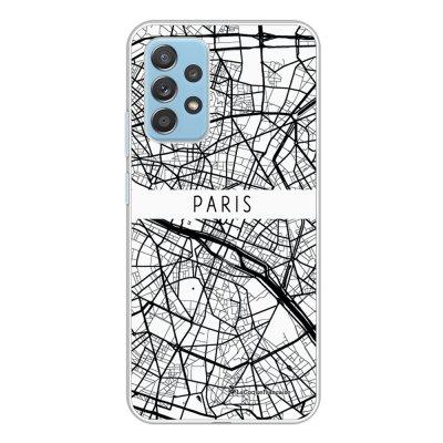 Coque Samsung Galaxy A52 souple transparente Carte de Paris Motif Ecriture Tendance La Coque Francaise.