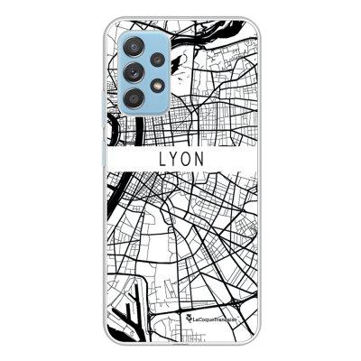 Coque Samsung Galaxy A52 souple transparente Carte de Lyon Motif Ecriture Tendance La Coque Francaise.