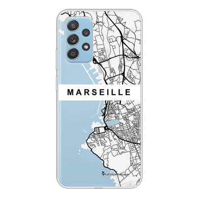Coque Samsung Galaxy A52 souple transparente Carte de Marseille Motif Ecriture Tendance La Coque Francaise.