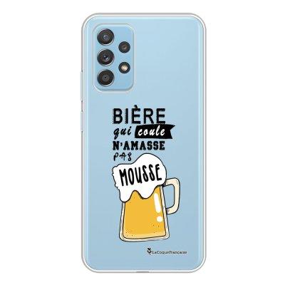 Coque Samsung Galaxy A52 souple transparente Bière qui Coule Motif Ecriture Tendance La Coque Francaise.